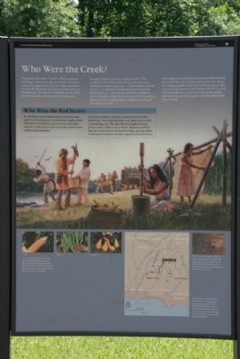 Horseshoe Bend National Military Park Marker (Right Panel) image. Click for full size.