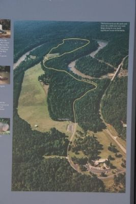 Aerial View of Horseshoe Bend National Military Park image. Click for full size.