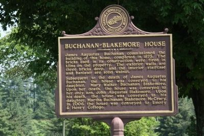 Buchanan-Blakemore House Marker image. Click for full size.