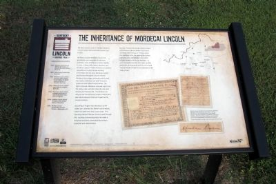 The Inheritance of Mordecai Lincoln Marker image. Click for full size.