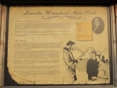 Lincoln Homestead State Park Marker (side 2) image. Click for full size.