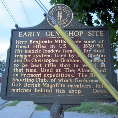 Early Gun Shop Site Marker (obverse) image. Click for full size.