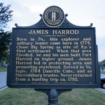 James Harrod Marker image. Click for full size.