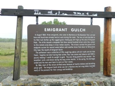 Emigrant Gulch Marker image. Click for full size.