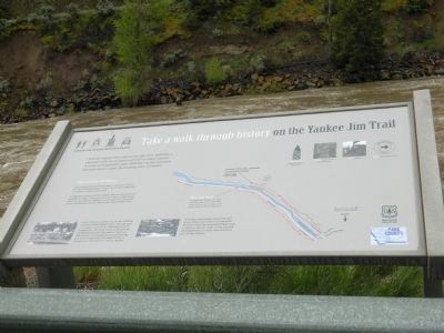 Take a walk through history on the Yankee Jim Trail Marker image. Click for full size.