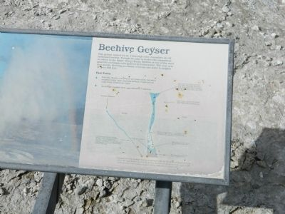 Beehive Geyser Marker image. Click for full size.