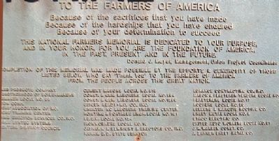 National Farmers Memorial Dedication image. Click for full size.