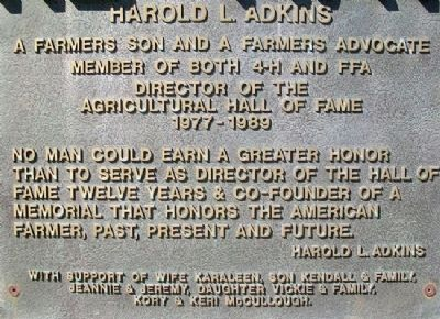 National Farmers Memorial - Adkins image. Click for full size.