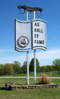 Agriculture Hall of Fame Sign image. Click for full size.