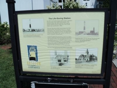 The Life-Saving Station Marker image. Click for full size.