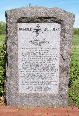 Bomber Builders Monument image. Click for full size.
