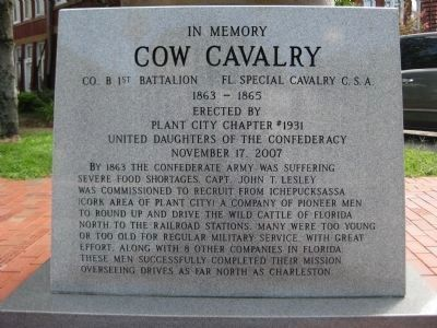 Cow Cavalry Memorial and Marker image. Click for full size.