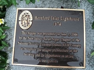 Hereford Inlet Lighthouse Marker image. Click for full size.