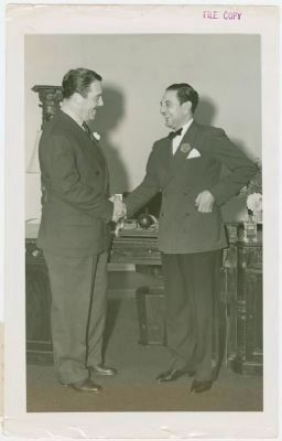 Grover Whalen and Guy Lombardo (right) image. Click for full size.