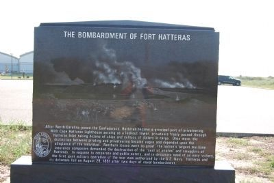 The Bombardment of Fort Hatteras Marker image. Click for full size.