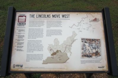 The Lincolns Move West Marker image. Click for full size.