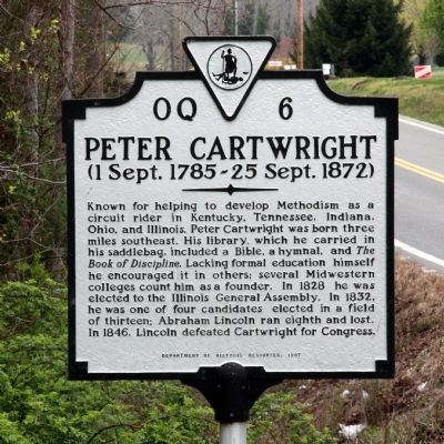 Peter Cartwright Marker image. Click for full size.