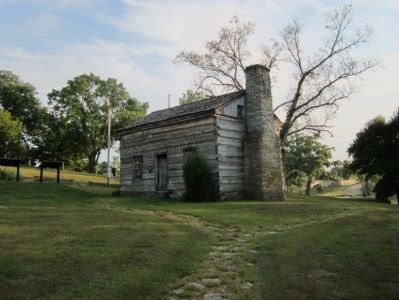 Lincoln Cabin (replica) image. Click for full size.