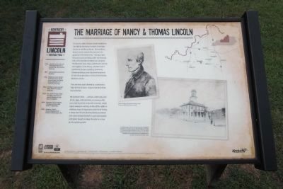 The Marriage of Nancy & Thomas Lincoln Marker image. Click for full size.