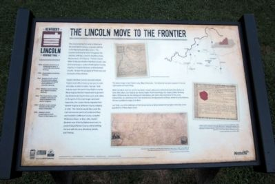 The Lincoln Move To The Frontier Marker image. Click for full size.