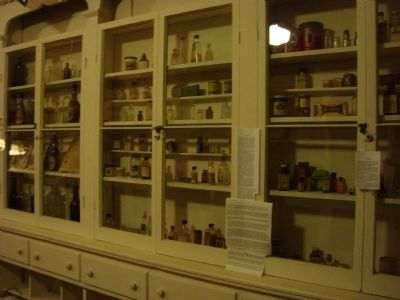 Part of the pharmacy at one time housed in the Wells Fargo building image. Click for full size.