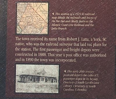 Section of Latta Branch, 1915 and Postcard depicts 20th Century Latta ACL Passenger depot image. Click for full size.