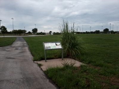 The marker is located near baseball and soccer fields at the Fountain Bluff complex. image. Click for full size.