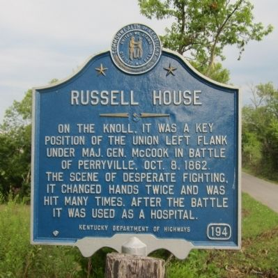 Russell House Marker image. Click for full size.