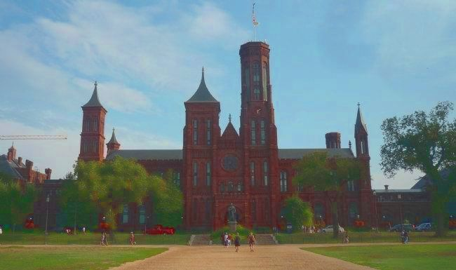 "Original Smithsonian Institution Building (the Smithsonian ""Castle)"" image. Click for full size."