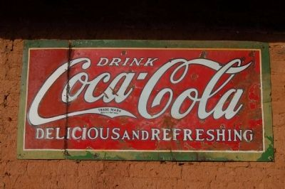 Vintage Coca-Cola Sign on Side of the Sun Sun Wo Co. Store image. Click for full size.
