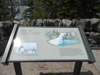 Jenny Lake Marker image. Click for full size.