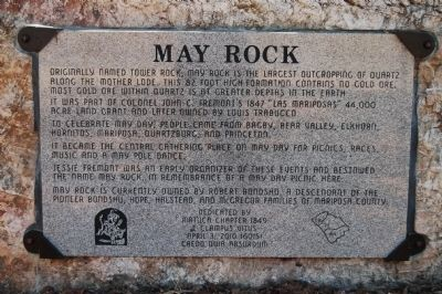 May Rock Marker image. Click for full size.