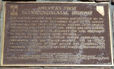America's First Transcontinental Highway Marker image. Click for full size.