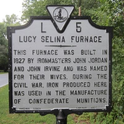 Lucy Selina Furnace Marker image. Click for full size.