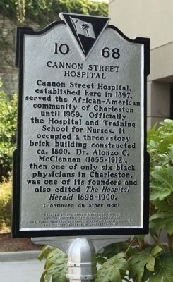 Cannon Street Hospital Marker Photo, Click for full size