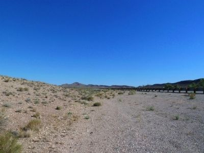 Nye County Old Boundary Marker, the View North image. Click for full size.