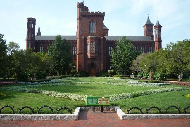 Original Smithsonian Institution Building - viewed from the south, image. Click for full size.
