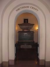 The Crypt of James Smithson - the Institution's English founder and namesake image. Click for full size.