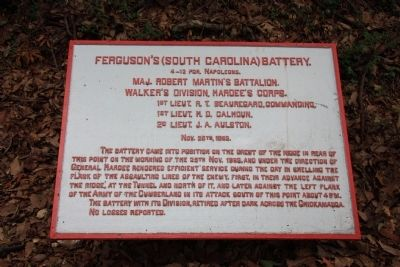 Ferguson's (South Carolina) Battery. Marker image. Click for full size.
