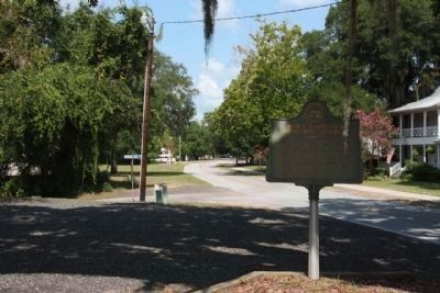Saint Cyprian's Episcopal Church Marker seen along Fort King George Drive, looking west image. Click for full size.