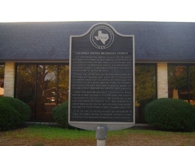 Columbia United Methodist Church Marker image. Click for full size.