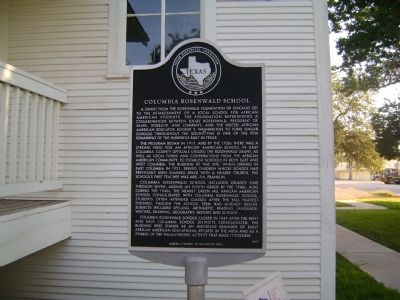 Columbia Rosenwald School Marker image. Click for full size.