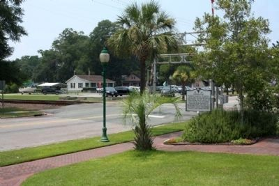 Ridgeland Marker, looking west on Main Street image. Click for full size.