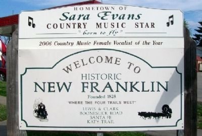 New Franklin Welcome Sign image. Click for full size.