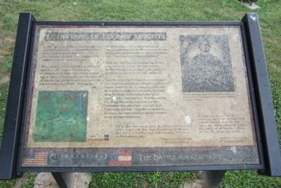 Defense of Loomis' Heights Marker image. Click for full size.