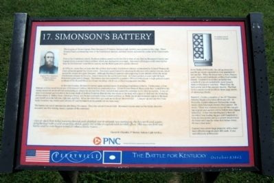 Simonson's Battery Marker image. Click for full size.