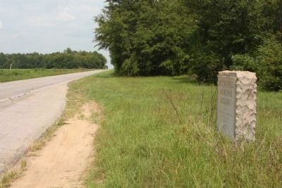 Moorefield Memorial Highway Marker, looking east along US 178 image. Click for full size.