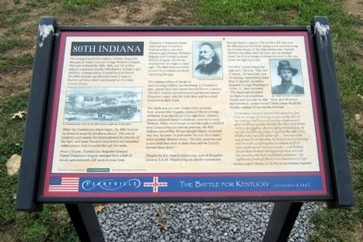 80th Indiana Marker image. Click for full size.