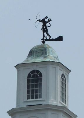 duplicate King Haiglar weathervane at City Hall close-up image. Click for full size.