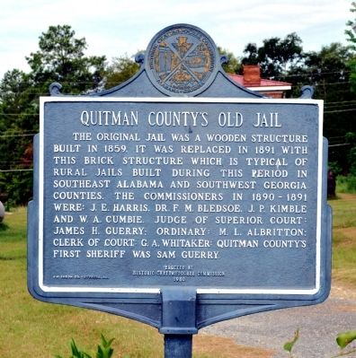 Quitman County's Old Jail Marker image. Click for full size.